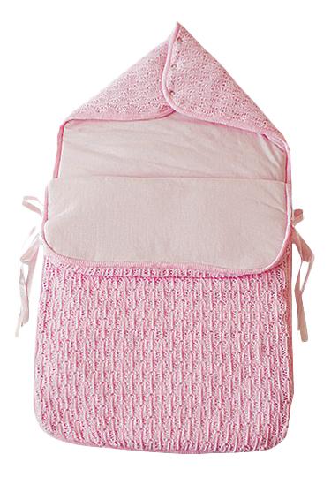 Конверт-мешок для детской коляски EKO Ажурный розовый