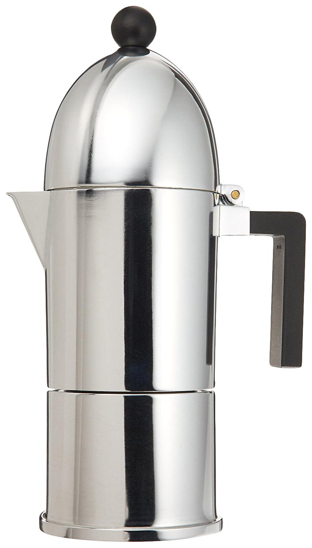 Гейзерная кофеварка Alessi La Cupola A9095/1 B Silver