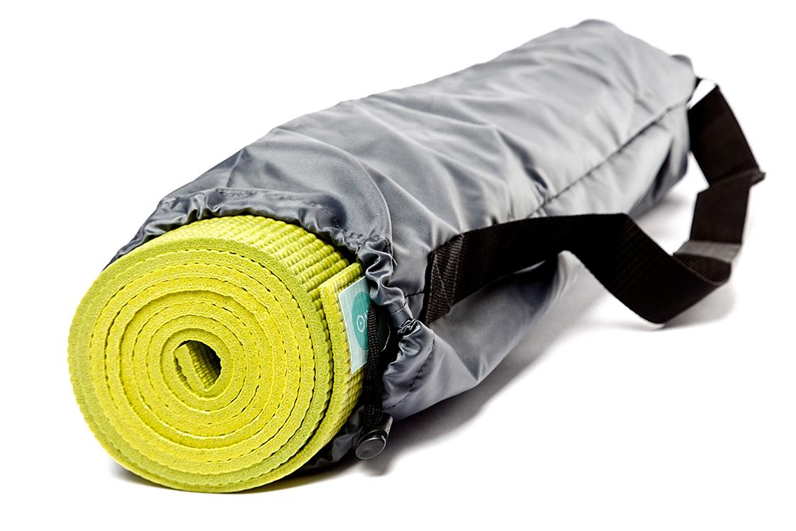 Чехол для йога-коврика RamaYoga Симпл с карманом 508107 60 см серый