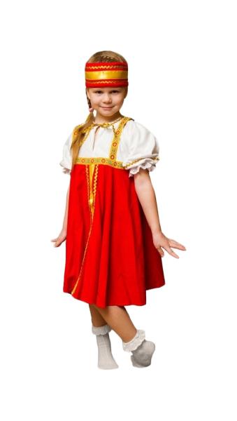 Карнавальный костюм Бока Крестьянка, цв. красный р.104
