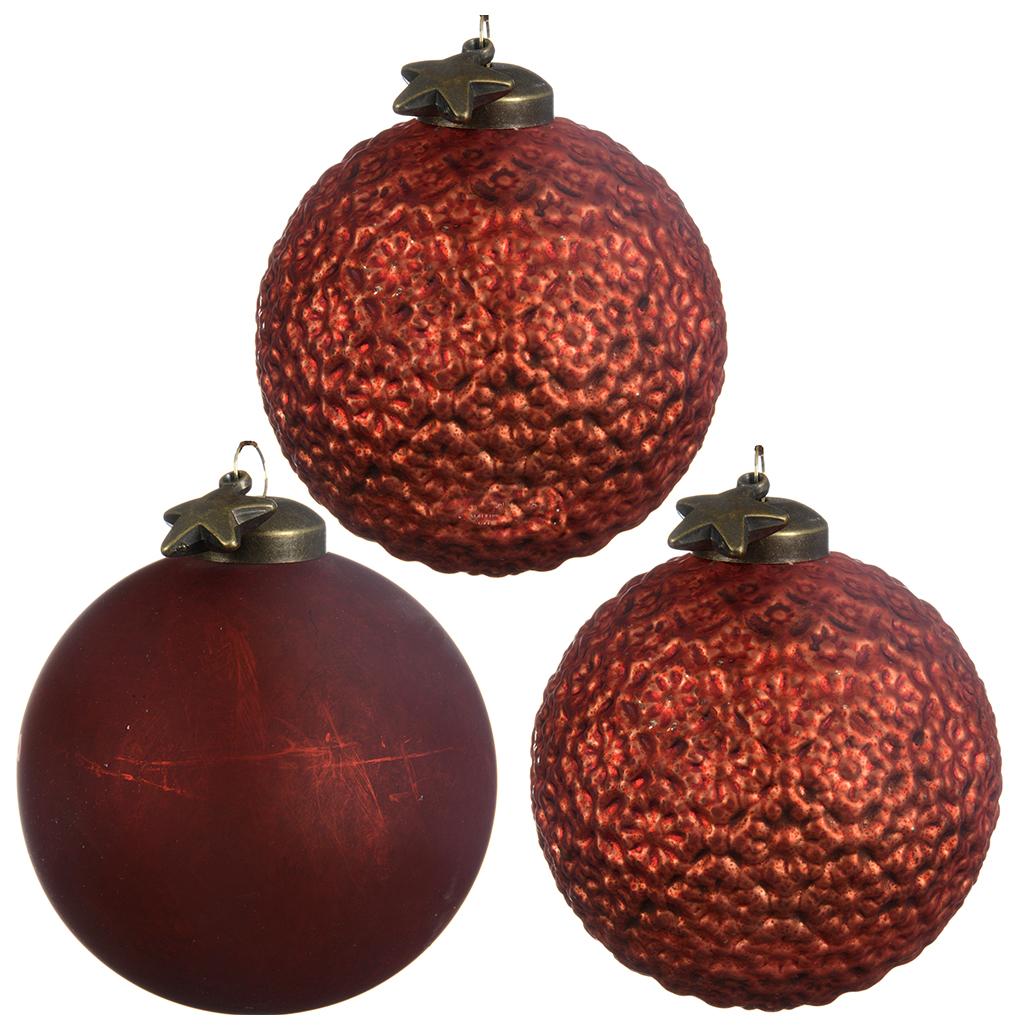 Набор елочных игрушек Kaemingk 069524 Оранжевый