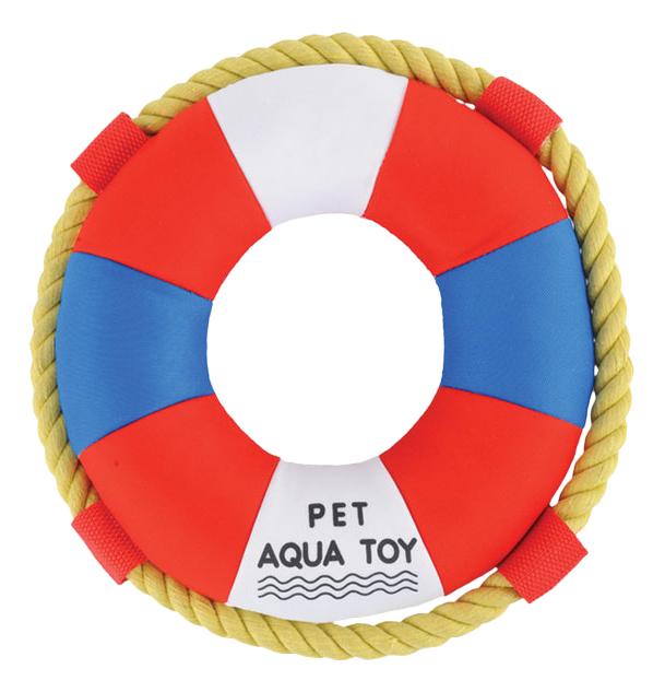 Жевательная игрушка для собак Triol Круг из неопрена, красный, белый, синий, 23 см фото