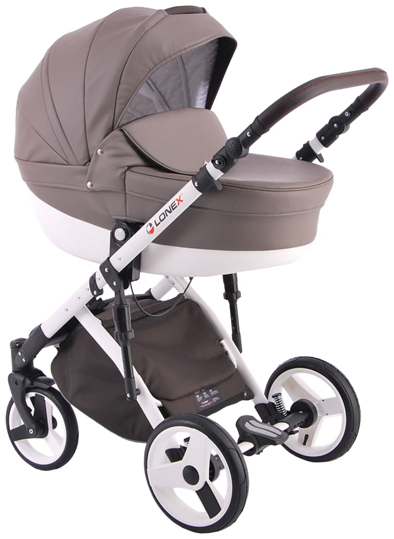 Купить Коляска 2 в 1 Lonex Comfort Special Ecco коричневый, Детские коляски 2 в 1