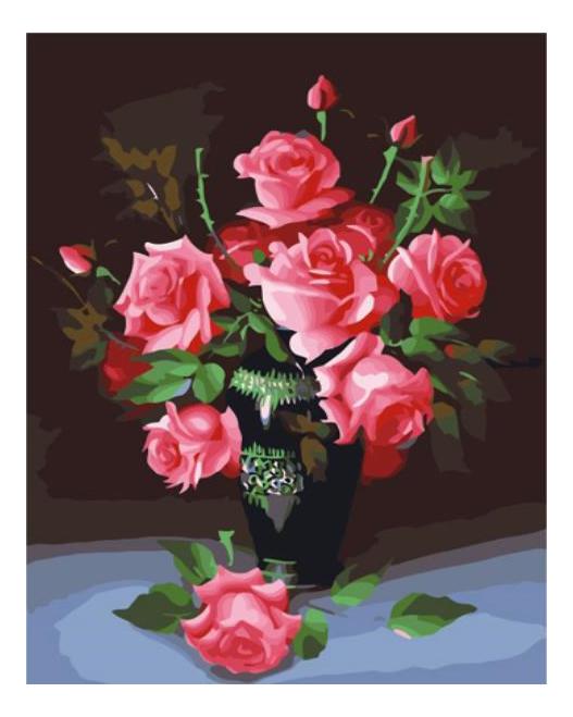 Алмазная живопись Color Kit Картина с алмазными стразами на холсте Букет роз