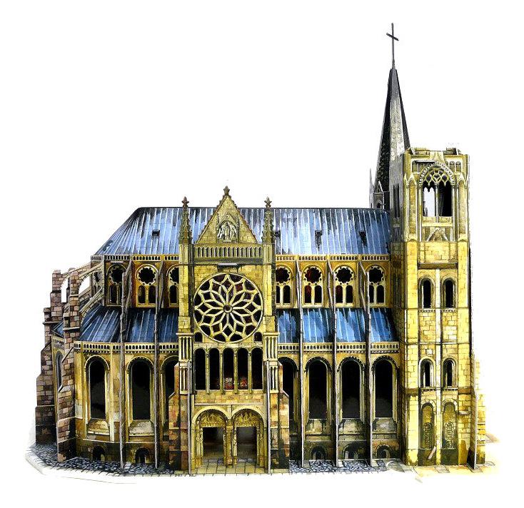 Купить Объемный пазл Архитектурные памятники Готический собор Умная Бумага 255, УмБум, Модели для сборки