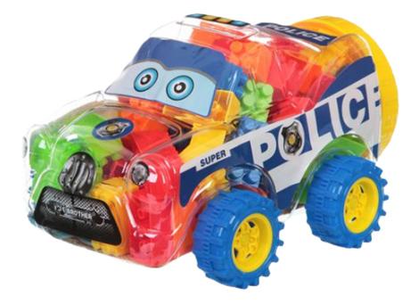 Блочный конструктор Полицейская машина Gratwest Г72924 фото