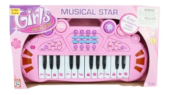 Игрушечный синтезатор Musical Star розовый Б29965 Shenzhen Toys фото