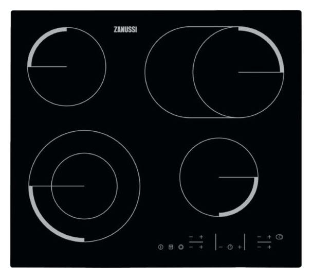 Встраиваемая варочная панель электрическая Zanussi ZEV56646FB Black