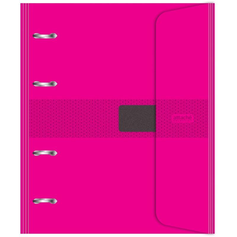 Бизнес-тетрадь со сменным блоком, на кольцах, А5, 120 листов, клетка, цвет обложки розовый
