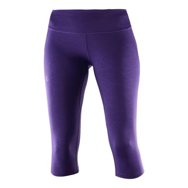 Тайтсы женские Salomon Agile Mid Tight фиолетовые, L