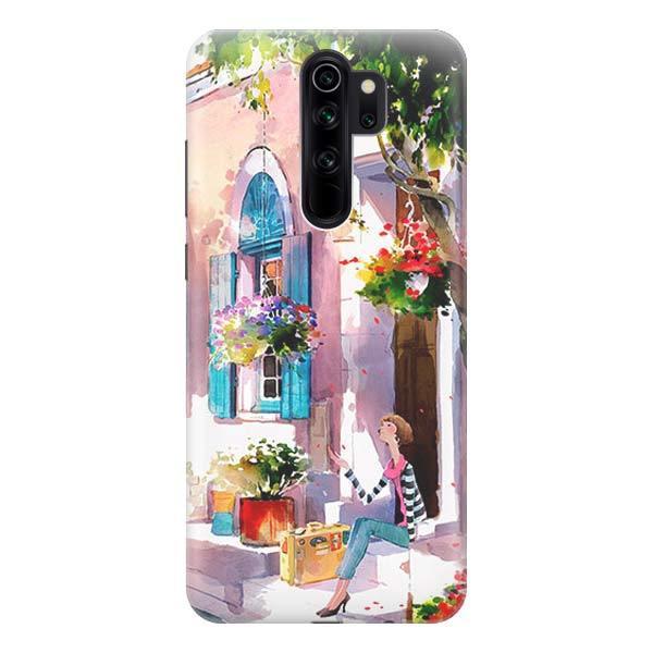 Чехол Gosso Cases для Xiaomi Redmi Note 8 Pro «Девочка на цветущей улочке»