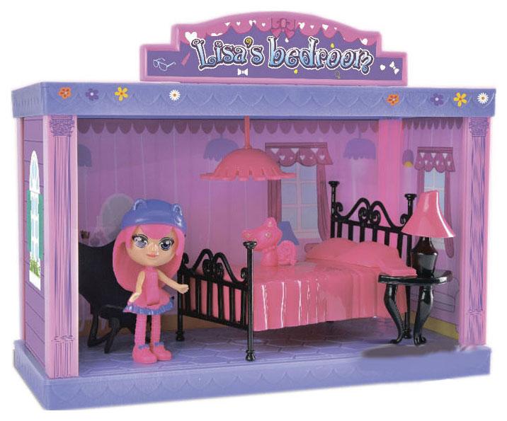 Игровой набор Дом-спальня с куколкой, ВОХ 28х23х5 см, арт.60213.