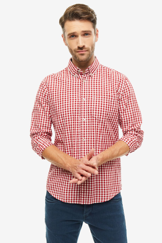 Рубашка мужская TOM TAILOR 1015106-20546 красная XXS