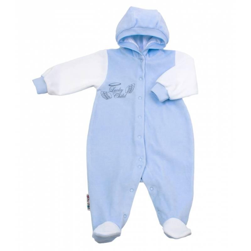 Купить Комбинезон Lucky Child, цв. голубой, 68 р-р, Трикотажные комбинезоны для новорожденных