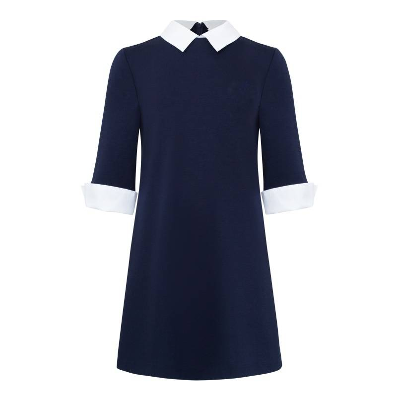 Платье Смена, цв. синий, 134 р-р, Детские платья и сарафаны  - купить со скидкой