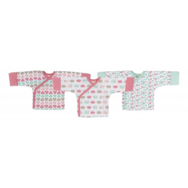 Купить 30-147, Комплект распашонок 3 шт Lucky Child, цв. бирюзовый, 68 р-р, Кофточки, футболки для новорожденных