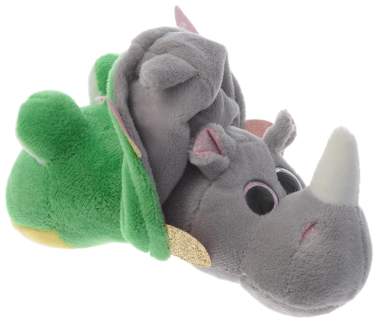 Лягушка/Носорог 16 см. Игрушка мягкая серии \