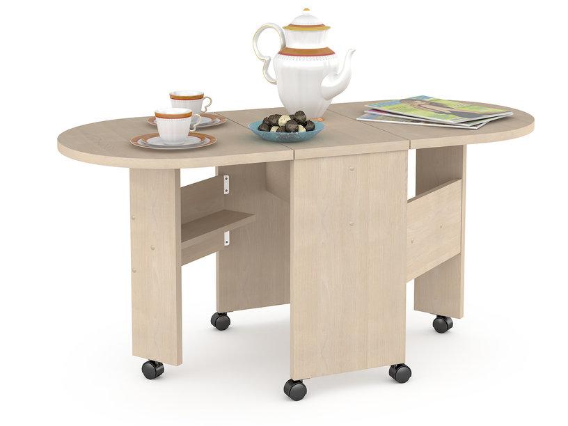 Журнальный столик Mobi Глория 601 стол-книжка Глория 33/121х53,6х53,2 см, дуб паллада