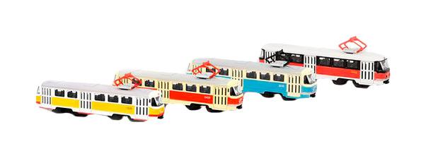 Купить Игровой набор Playsmart Автопарк Трамвай 6551, Наборы игрушечного транспорта