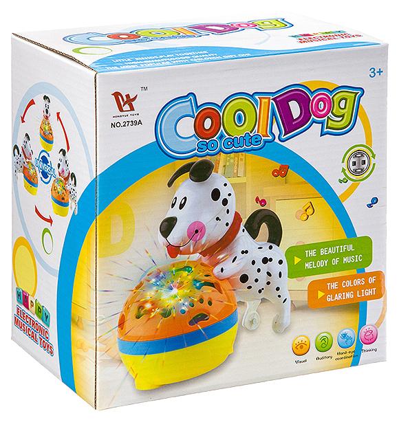 Купить Собачка с шаром, со световыми и звуковыми эффектами, Shenzhen Jingyitian Trade, Интерактивные животные