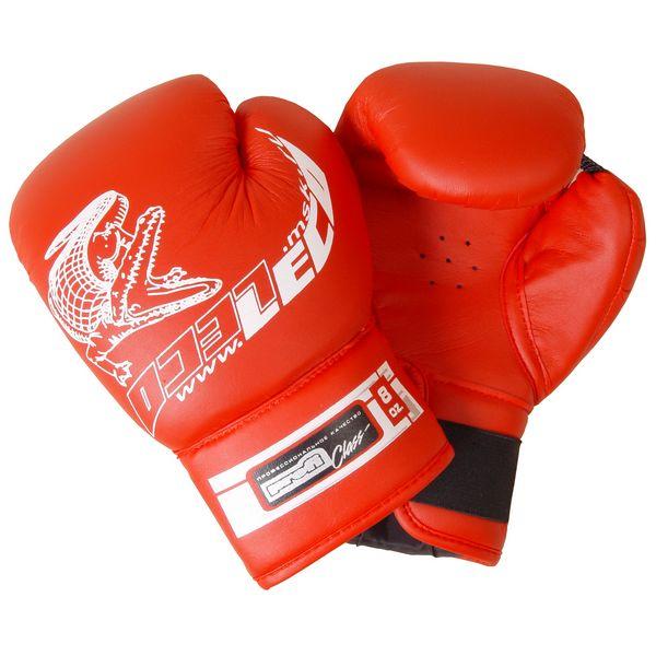 Боксерские перчатки Leco Профи красные 8 унций
