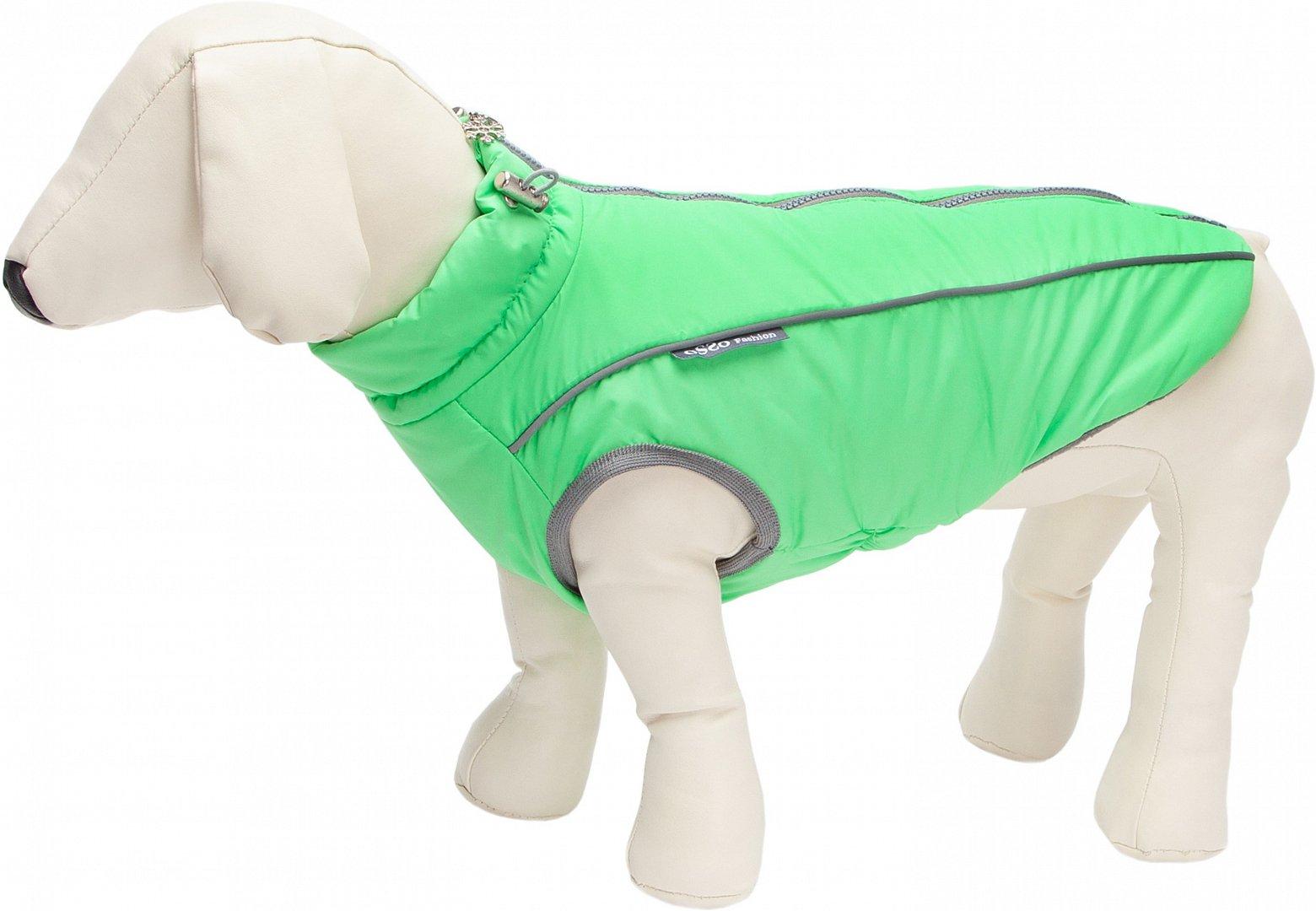 Жилет Osso Fashion Аляска зимний для собак (28, Салатовый)