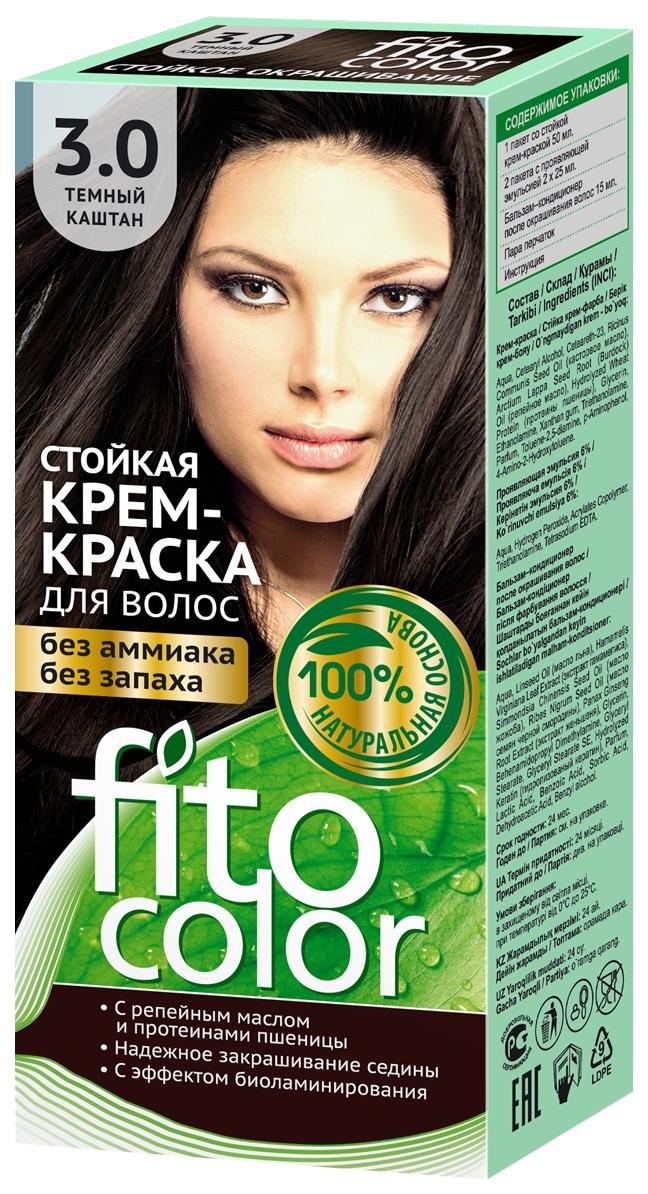 Краска для волос Фитокосметик FitoColor 3.0 Темный каштан 115 мл