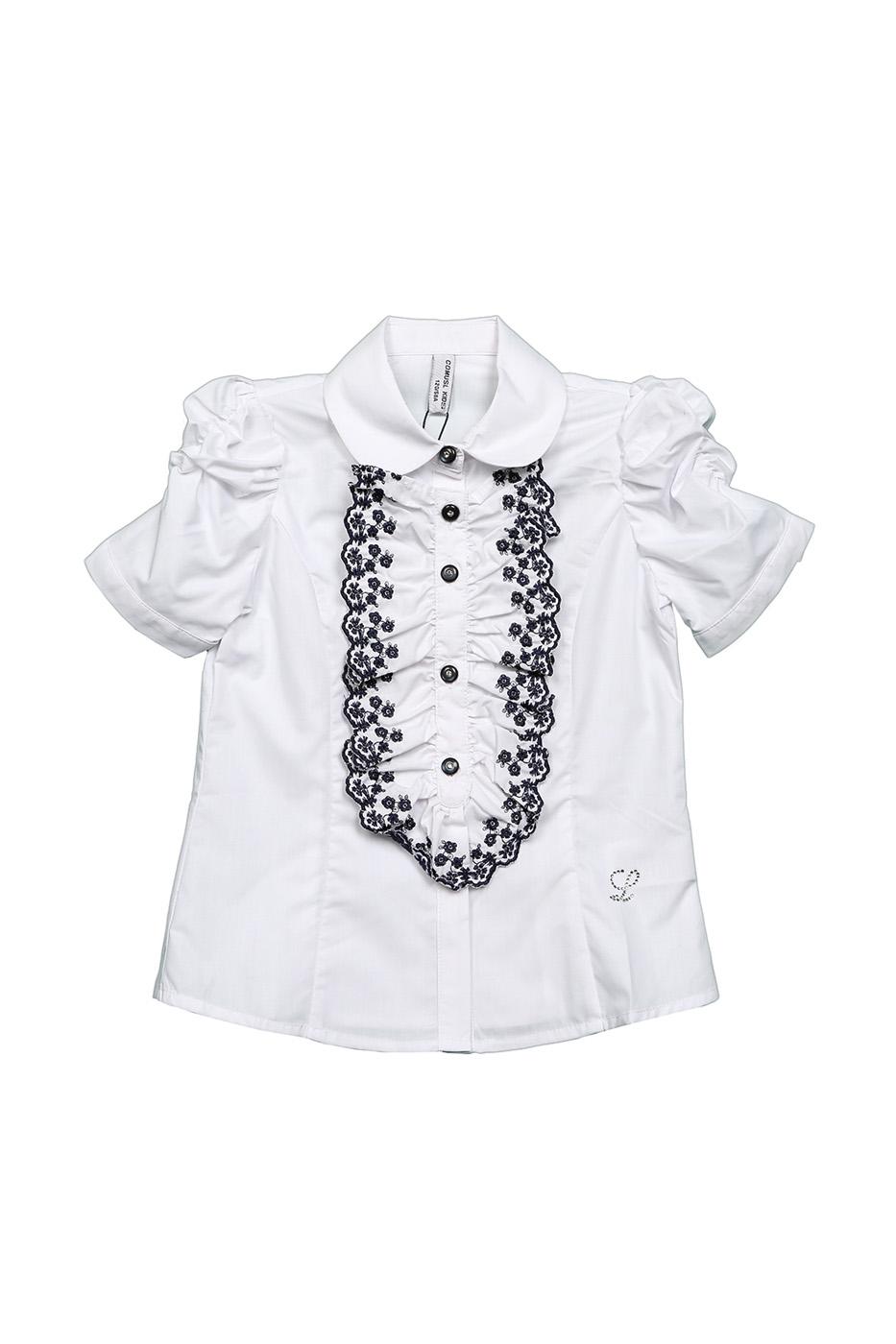 Купить CXFG7295SH, Блузка детская Comusl, цв. белый, р-р 120, Блузки для девочек