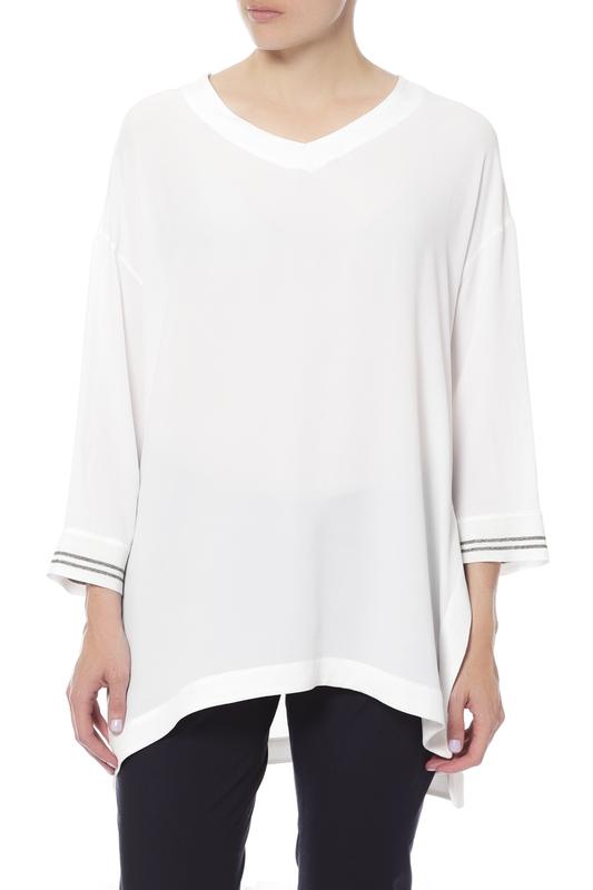 Блуза женская LORENA ANTONIAZZI LP3336CA16/2692/0100 белая 44 IT