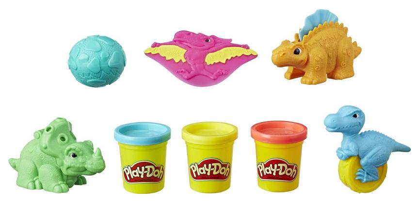 Купить Набор для лепки из пластилина Play-Doh Hasbro Малыши-Динозаврики, Лепка