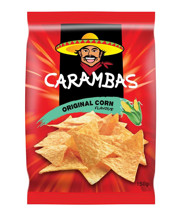 Чипсы Carambas кукурузные оригинальные 150 г