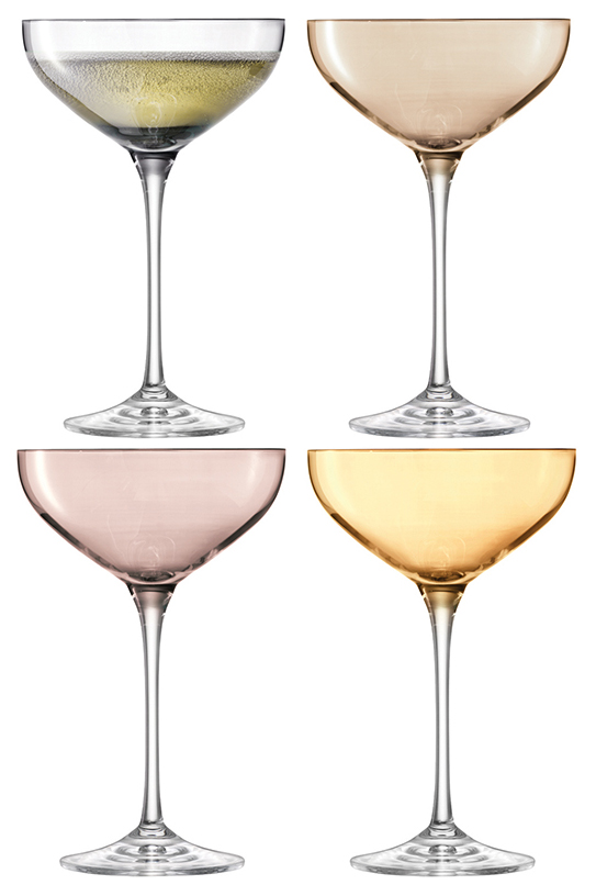 Набор бокалов LSA polka для шампанского 235 мл 4шт