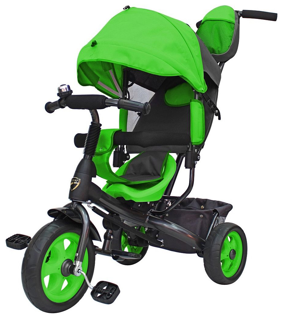 Купить Велосипед трехколесный Galaxy Лучик Vivat Зеленый, Детские велосипеды-коляски
