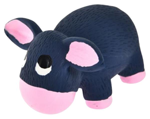 Жевательная игрушка для собак HOMEPET Ослик, серый, длина 10.5 см