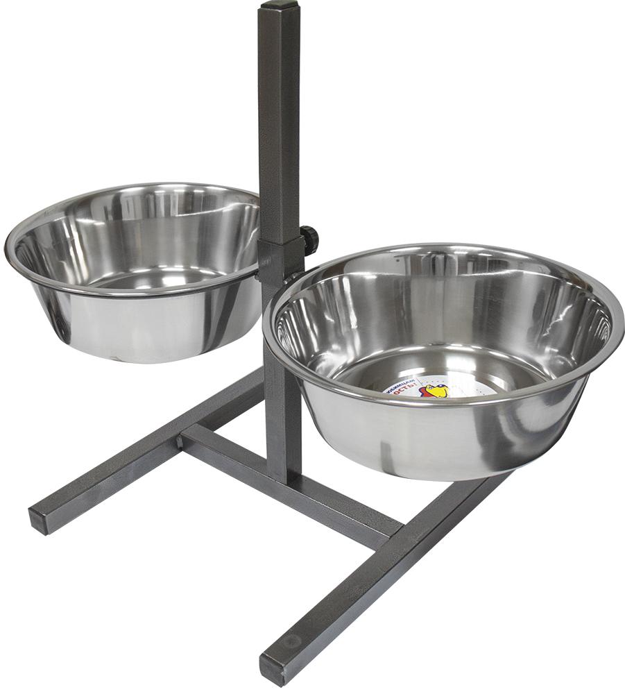 Двойная миска для собак Зооник, металл, сталь,