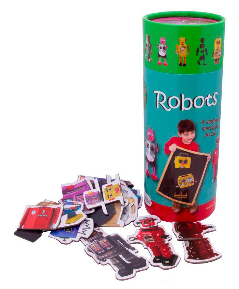 Купить Магнитная игра The Purple Cow Роботы, Семейные настольные игры