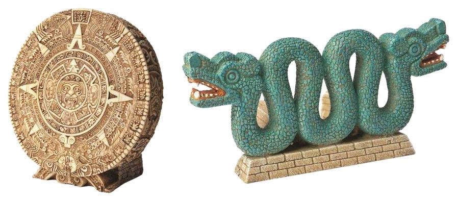 Декорация для аквариума Hydor Древний календарь и Двухголовая