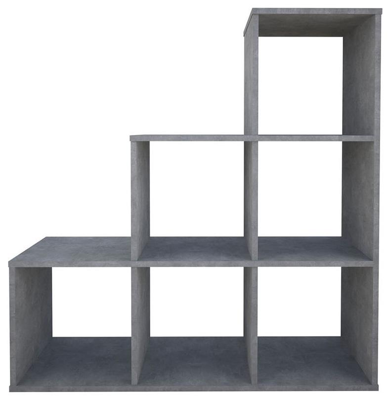 Купить Стеллаж Polini Home Smart Каскадный 6 секций бетон,