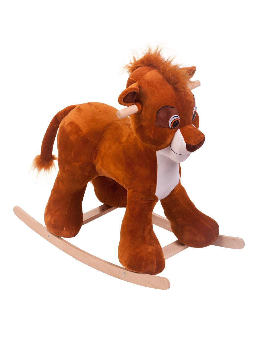 Купить Качалка ToysGo Лев коричневый, Качалки детские