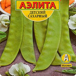 Семена Горох Детский сахарный, 25 г, АЭЛИТА