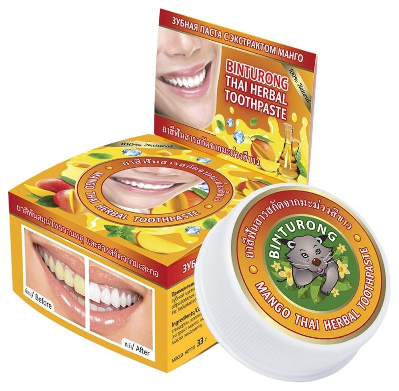 Купить Зубная паста BINTURONG C экстрактом манго 33 г