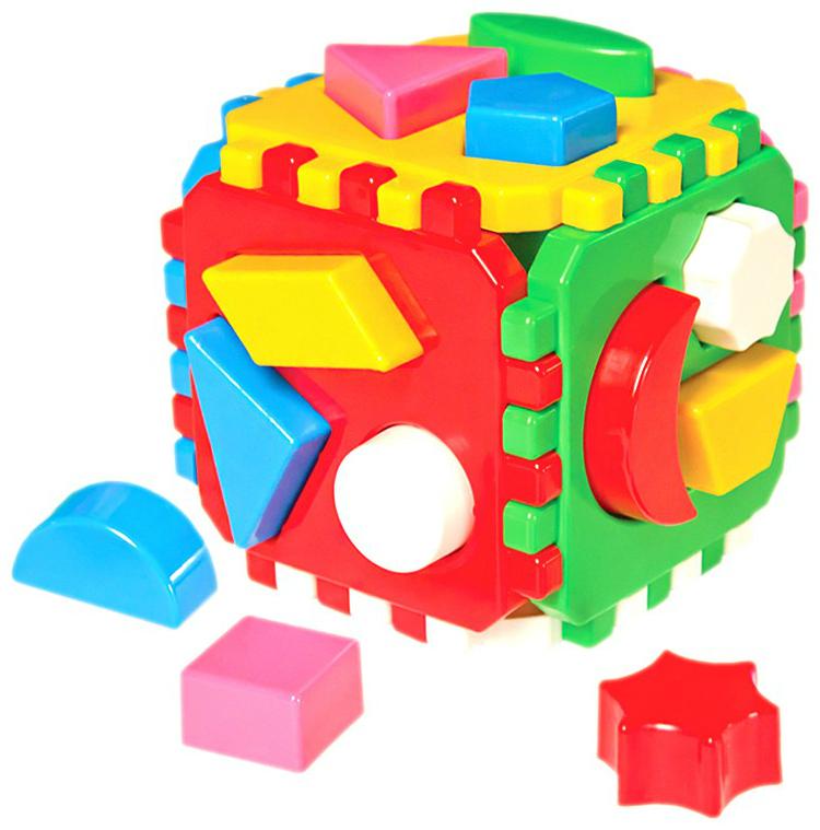 Сортер ТехноК Кубик Умный малыш 24 элемента