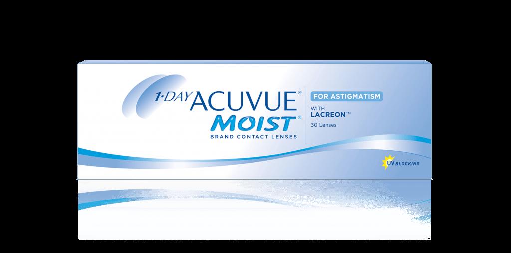 Контактные линзы 1-Day Acuvue Moist for Astigmatism 30 линз 0,00/-1,75/10