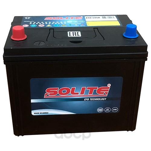 Аккумулятор автомобильный Solite EFBS95R START-STOP 80A/ч 790А полярность прямая фото