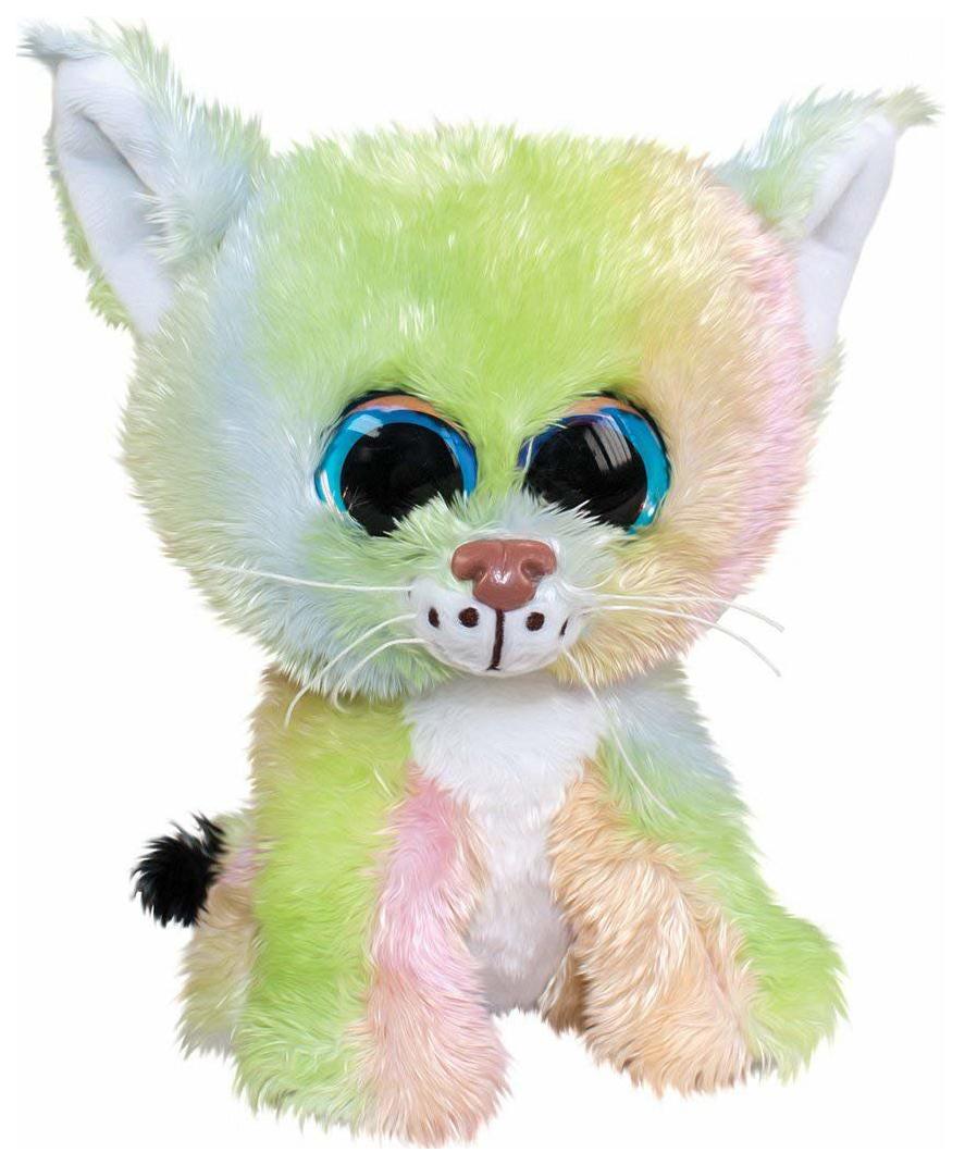 Мягкая игрушка Tactic Рысёнок Aurora, зелено-розовый, 15 см, Мягкие игрушки животные  - купить со скидкой