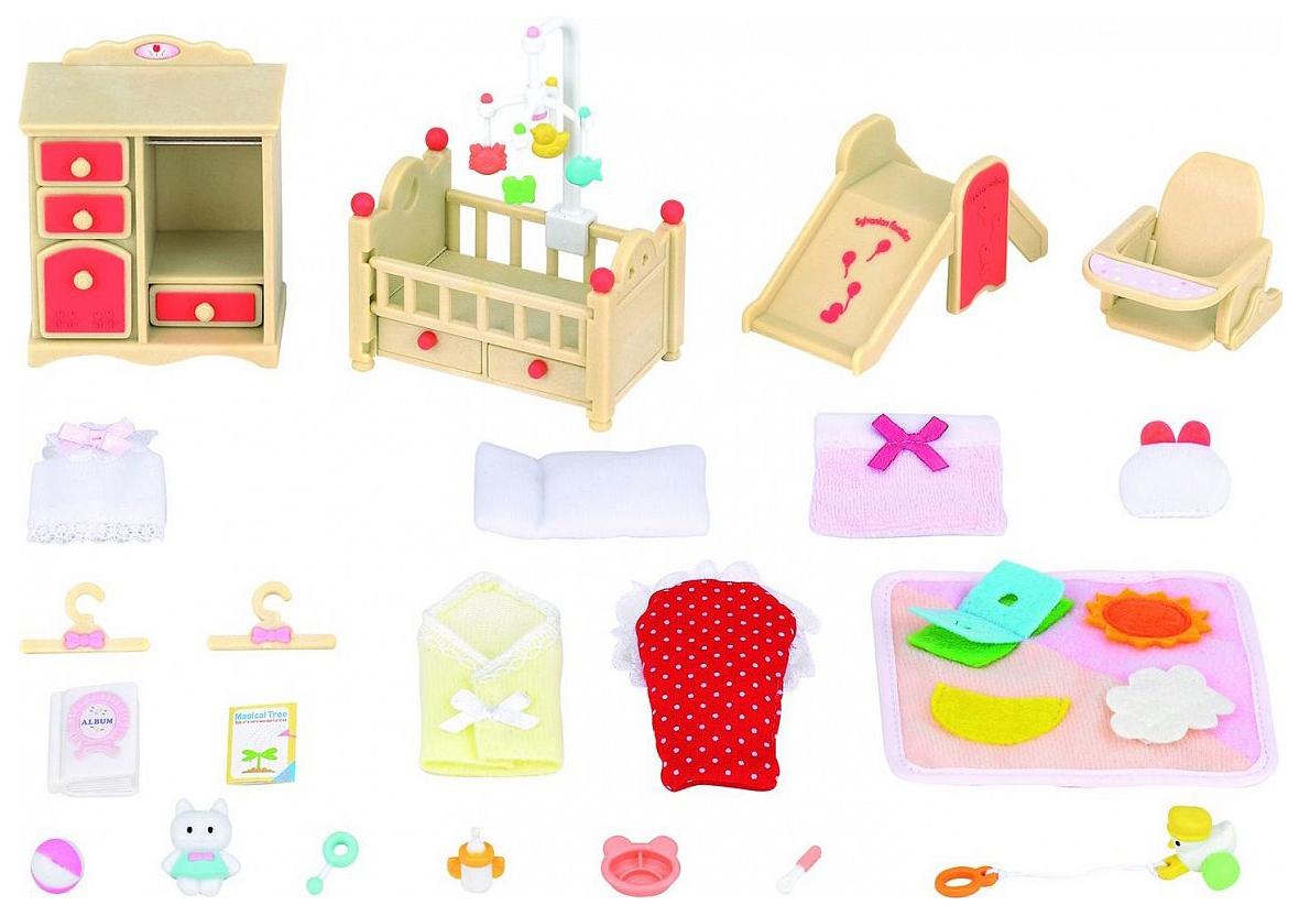 Игровой набор Sylvanian Families Дтская комната и горка