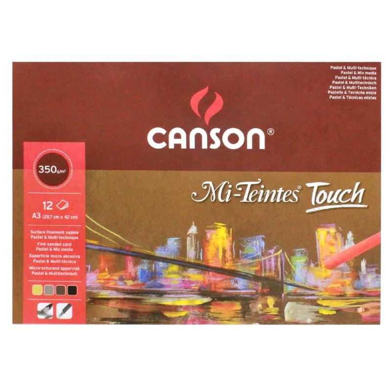 Блок бумаги для пастели 4 цветов Mi-Teintes Touch CANSON 355г/м2 29,7х42см 12 л фото