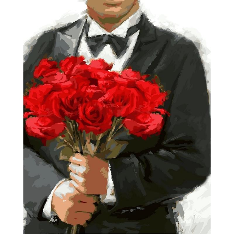 Розы для любимой -  картина по номерам