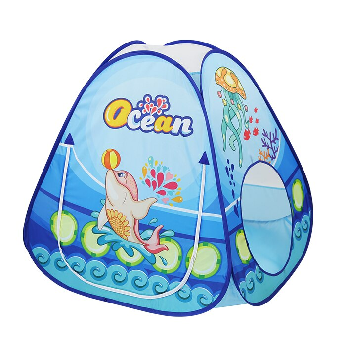 Палатка игровая НАША ИГРУШКА с туннелем Океан 985-Q66