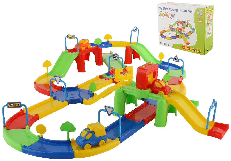 Купить Парковки, гаражи, автотреки, Автотрек Wader Гоночный трек №3 37596_PLS, Детские автотреки